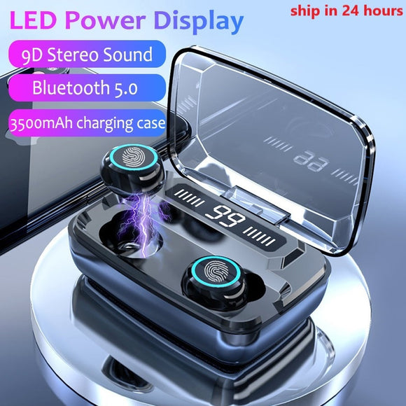 Earbuds 3500mAh LED Bluetooth Wireless