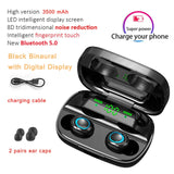 3500mAh LED Bluetooth Wireless Earphone