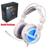 Sades A6 Gaming Headset Gamer Headphones 7.1 Surround Sound Stereo Earphones USB Microphone Breathing LED Light PC Gamer