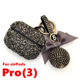 Luxury Diamond Decorative Case For Airpods Pro Earphone Keychain Protective Cover Skin For Apple Airpods 1 2 Fhx-51A Women Gifts