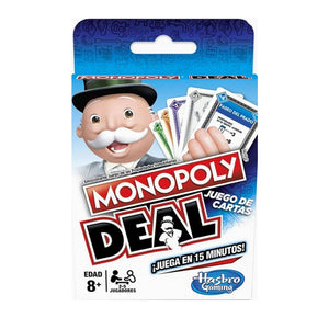 Hasbro Monopoly-card game, classical letter, multijugadores, game owned alquile hotel fun original Spanish