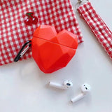 3D Diamond Love Silicone Case for Airpods Pro Cute Bluetooth Earphone Case for Airpod Pro Cover for Air Pods 2 Pro with Keychain