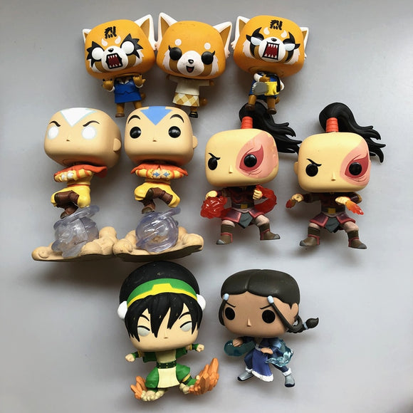 Exclusive Original Funko pop Avatar: The Airbender Aggretsuko Vinyl Action Figure Collectible Model Loose Toy No Box