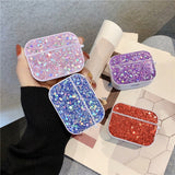 For AirPods Pro Glitter Earphone Case Hard Protective Diamond Bling Shiny Case Wireless Earphone Bags girl gift