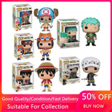 FUNKO POP Japanese Anime One Piece Luffy ACE LAW Tony Chopper Roronoa Zoro Vinyl Action Figure Toys For Children Christmas Gift