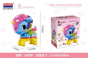 Balody Mini Blocks Cute Small Horse Model Tokidoki Anime unicorn Building Toys Juguetes Kids X'mas Gifts Girls Lovely Brinquedo