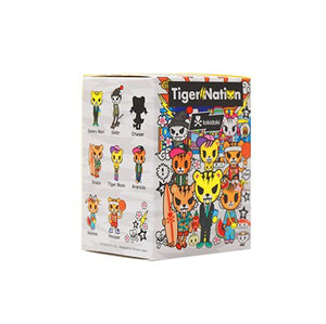 Tokidoki Tiger Family Blind Box Tide Play Action Figure Hand-made Two-dimensional Animal Decoration Doll Model Gift