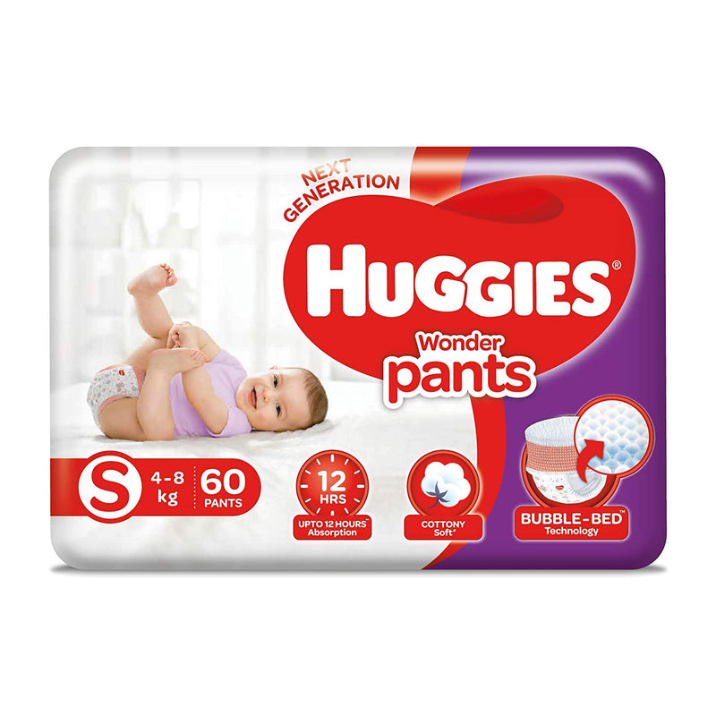 Huggies Wonder Pants, Small Size Diapers, 60 Count