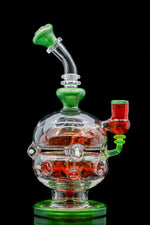 "BC Glass (aka Brandon Clark) Red ""Color Fab Egg"" oil rig"