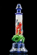 Grimm Glass (aka Karl S. Taylor) Alice In Wonderland tube oil rig with removable flower slide and flips throughout