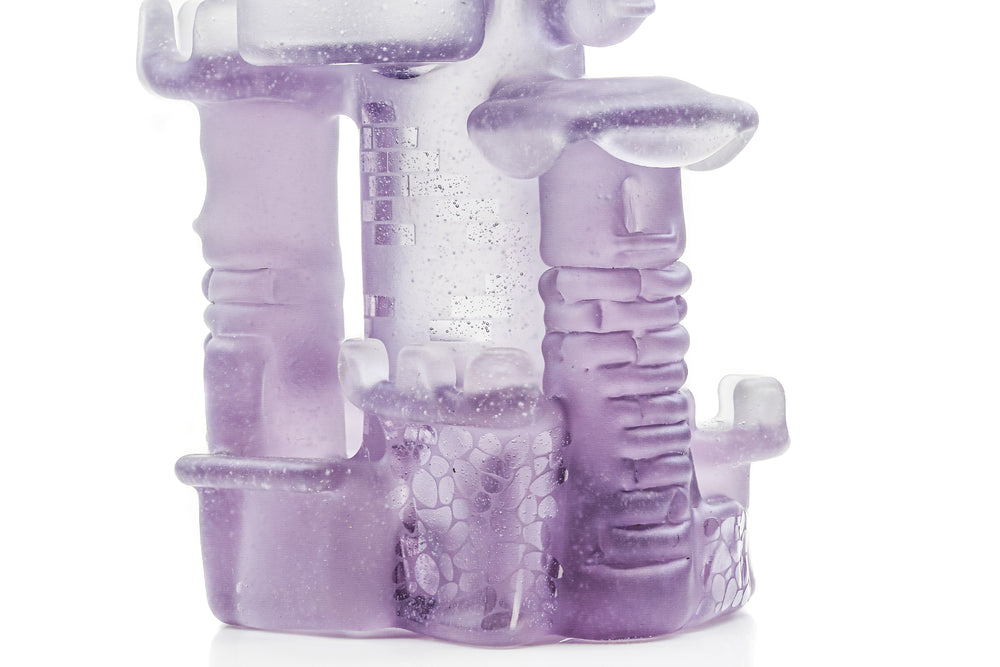 JEBB Mini Gem Series purple castle dab rig