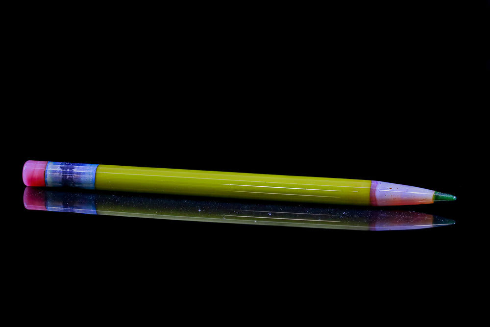 "Sherbet - Yellow ""Pencil"" Dabber w/Green Tip"