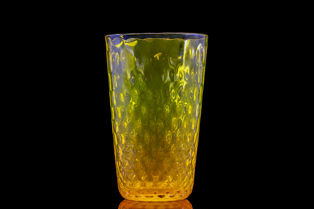 Xander D'ambrosio yellow rainbow full drinking glass