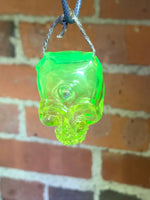 Sweeny Glass UV Skull Pendant