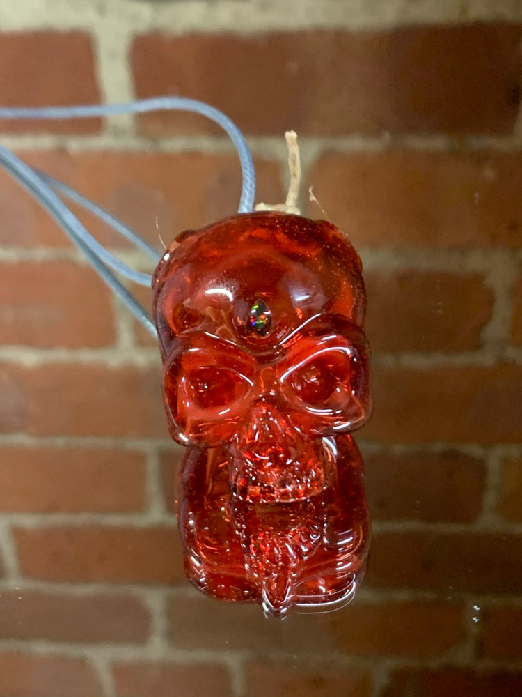 Sweeny Glass Skull Pendant