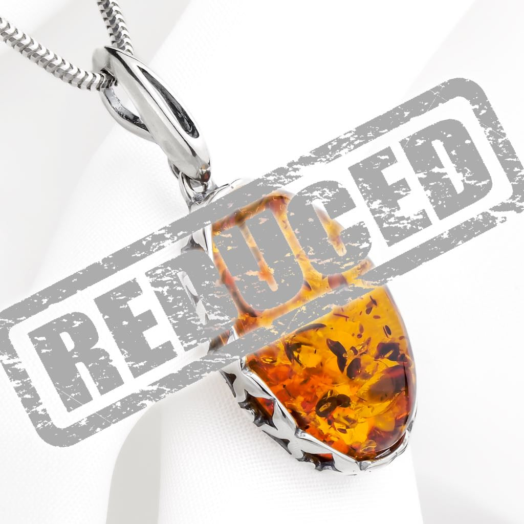 Baltic amber and sterling silver pendants a stones throw jewellery baltic amber and sterling silver pendants a stones throw jewellery seriously amber mozeypictures Choice Image