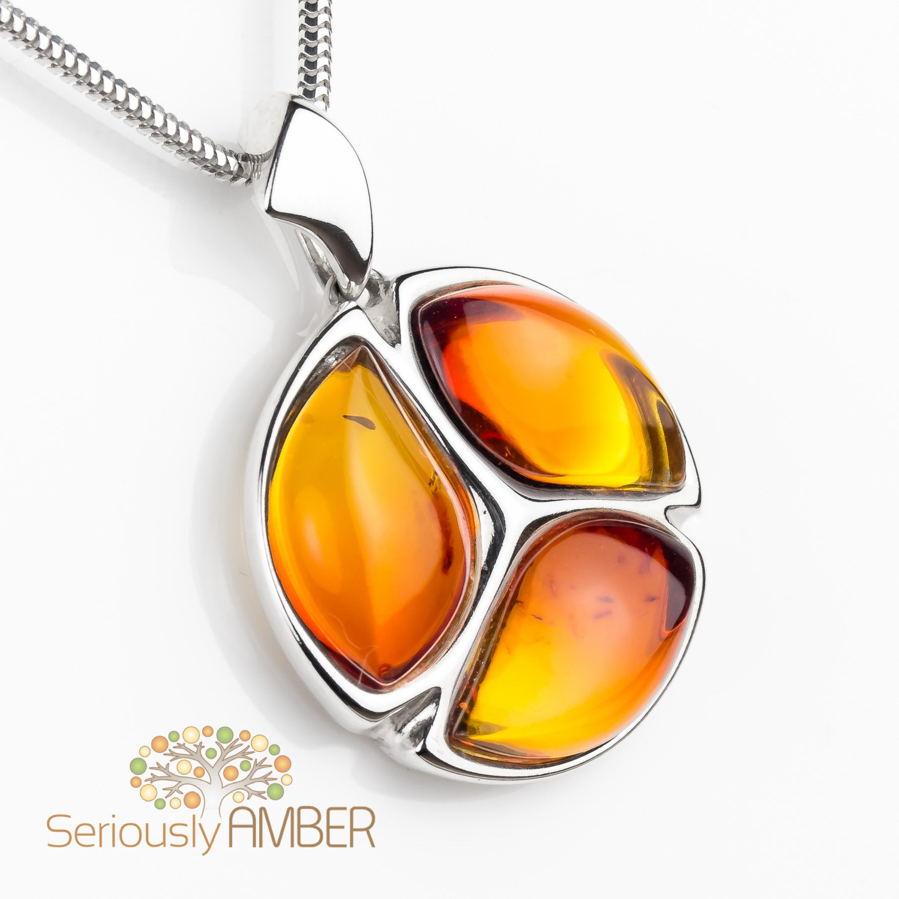 Sterling silver and sunset amber pendant sa p2670ba seriously amber sunset amber pendant mozeypictures Images