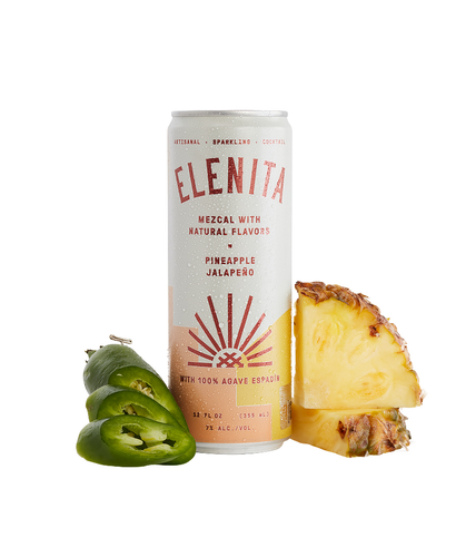 Elenita Mezcal Cocktail Pineapple Jalapeno - 12oz Can - SipsyLA