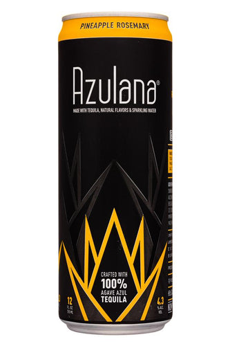 Azulana Pineapple Rosemary Sparkling Tequila - 12oz can - SipsyLA