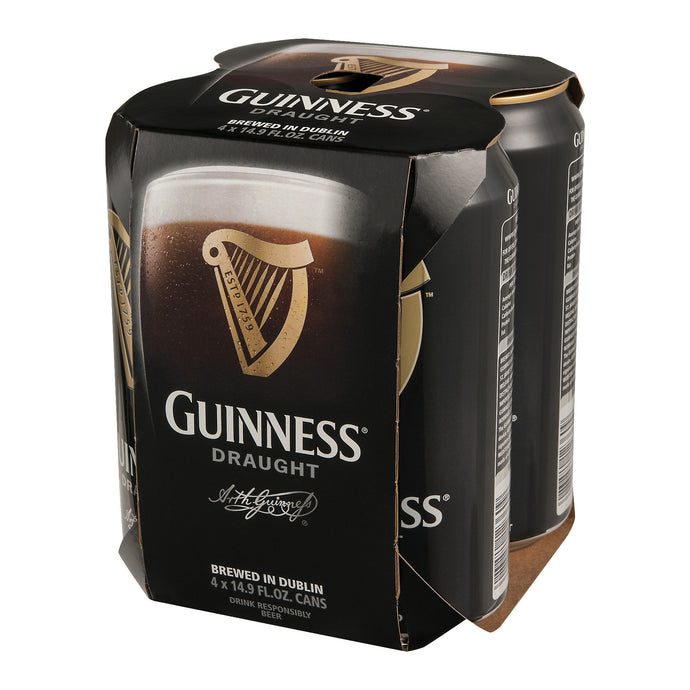 Guinness Draught Irish Dry Stout  - 4 cans - SipsyLA