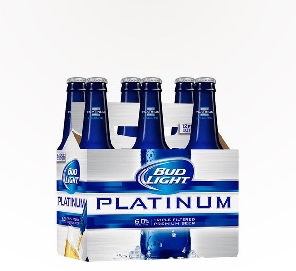 Bud Light Platinum  American Lager  - 6 bottles - SipsyLA