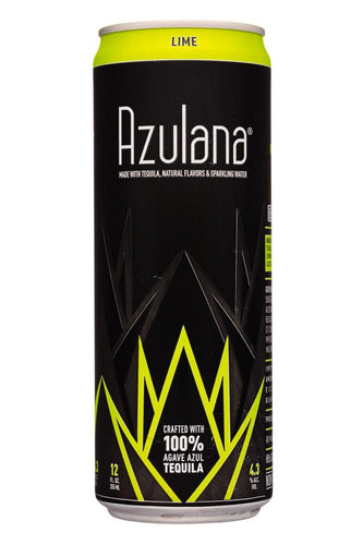 Azulana Lime sparkling Tequila - 12oz can - SipsyLA
