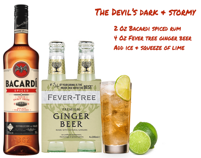 Bacardi's Devil's Dark and Stormy Cocktail Pack