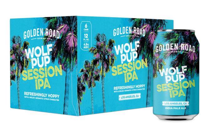 Golden Road Wolf Pup American IPA  - 6 cans - SipsyLA