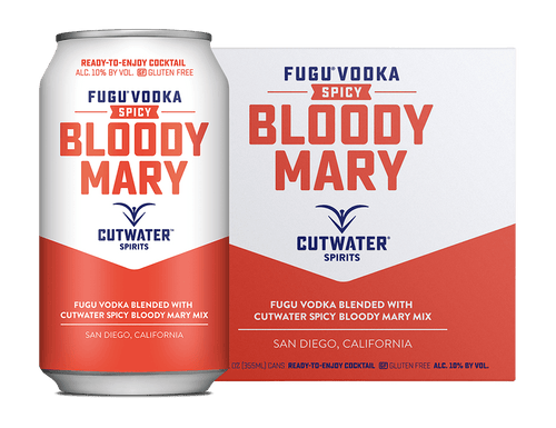 Cutwater Vodka Spicy Bloody Mary 4pk 12 oz cans - SipsyLA