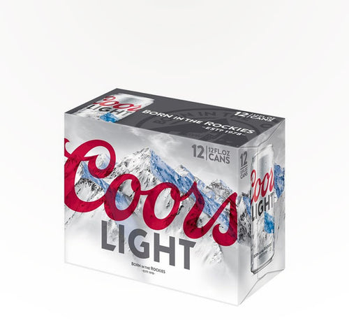 Coors Light  American Lager  - 12 cans - SipsyLA