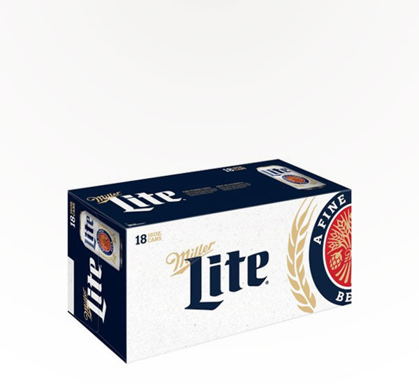 Miller  Light American Beer  -  18 cans - SipsyLA