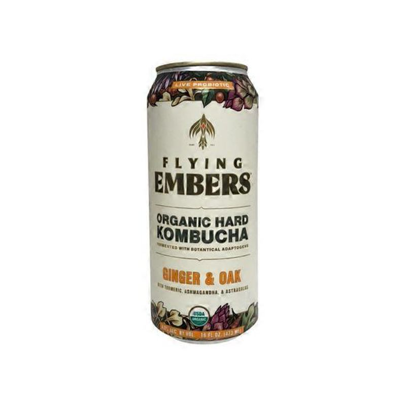 Flying Embers Hard Kombucha - Ginger and Oak 16oz - SipsyLA
