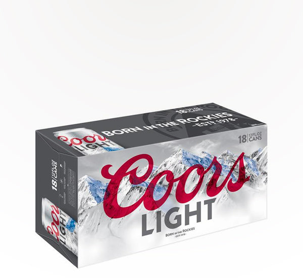 Coors Light  American Lager  - 18 cans - SipsyLA