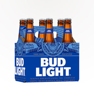 Bud Light  American Lager  - 6 bottles - SipsyLA