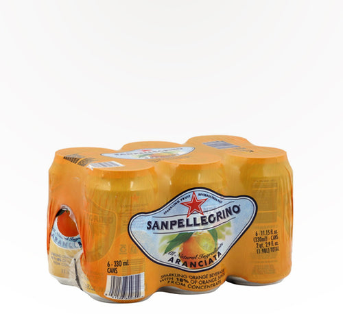 San Pelligrino Orange - 6 cans - SipsyLA