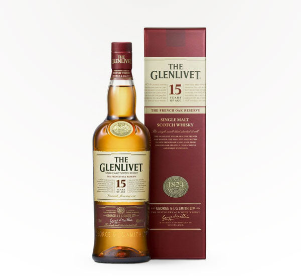 Glenlivet Single Malt, 15 Year - 750 ml - SipsyLA
