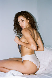 Nina High Waisted Bottom in Bone
