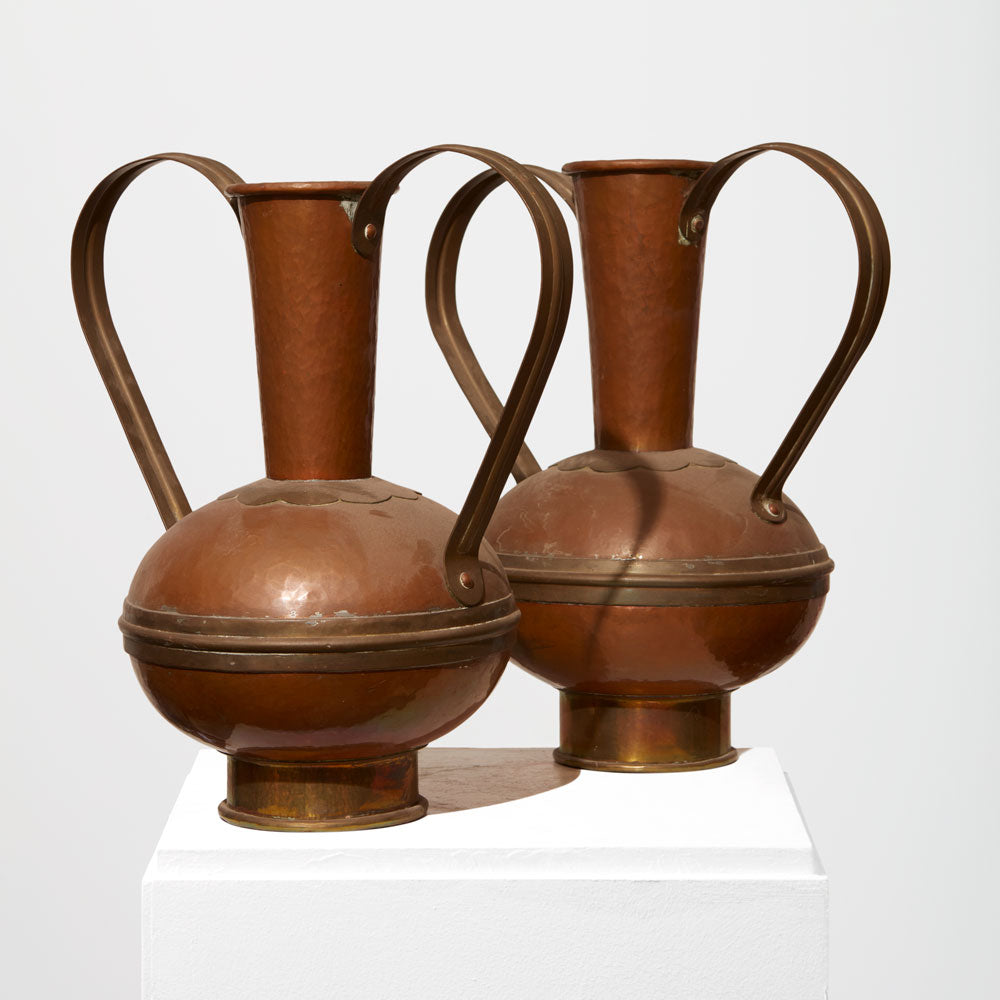 Pair of copper vases