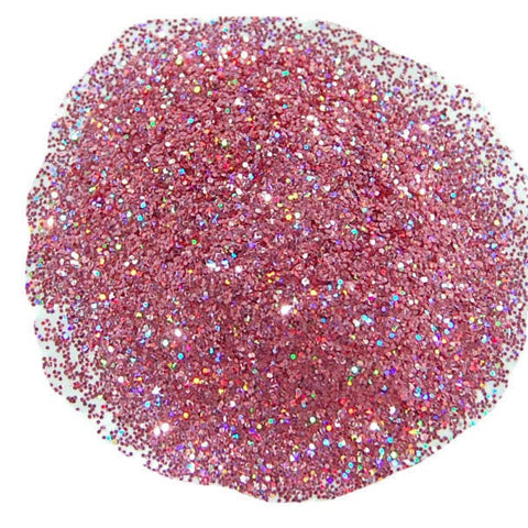 Holo Rose Glitter 0.015 Hex