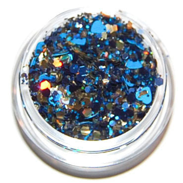 Blue and Gold Sparkle Mix