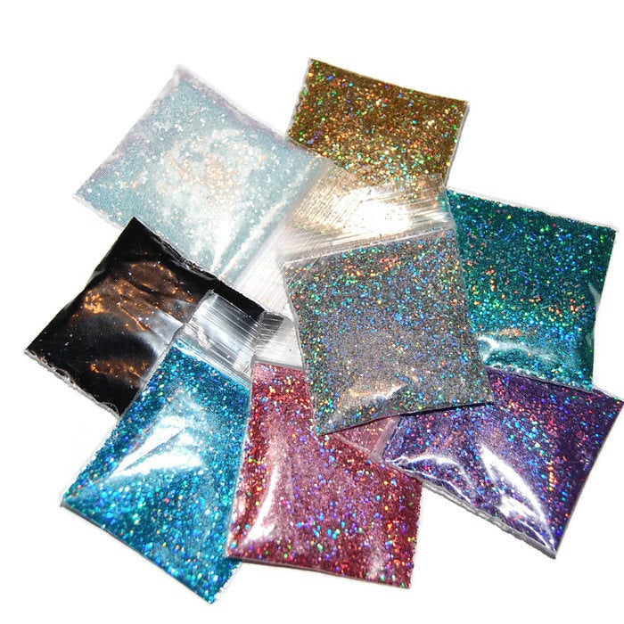 Holographic Glitter Set, COSMETIC GLITTER, Set of 8