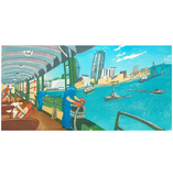 Star Ferry to Kowloon Greeting Card