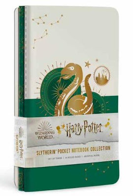 Harry Potter: Slytherin Constellation Sewn Pocket Notebook Collection: Set of 3