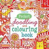 Red Pocket Doodling & Colouring Book