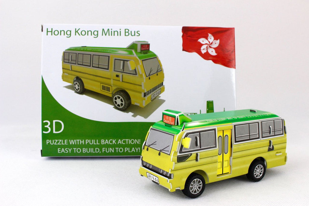 Hong Kong Mini Bus 3D Puzzle with Pull back Action
