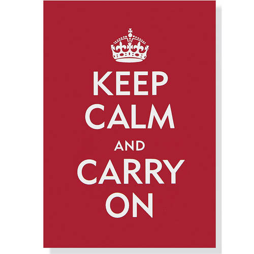 Note Card Keep Calm & Carry on