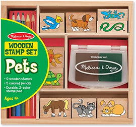 My First Wooden Stamp Set - Pets