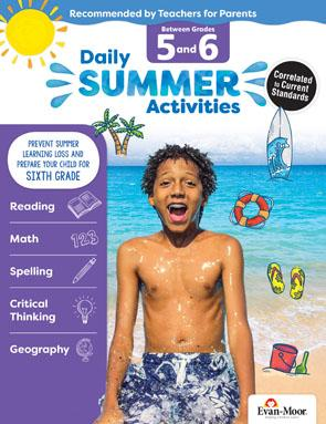Daily Summer Activities: Moving from 5th Grade to 6th Grade, Grades 5-6 (Student)