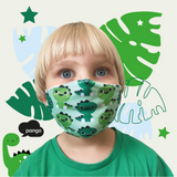 Reusable Cloth Mask for Kids - Dinosaur