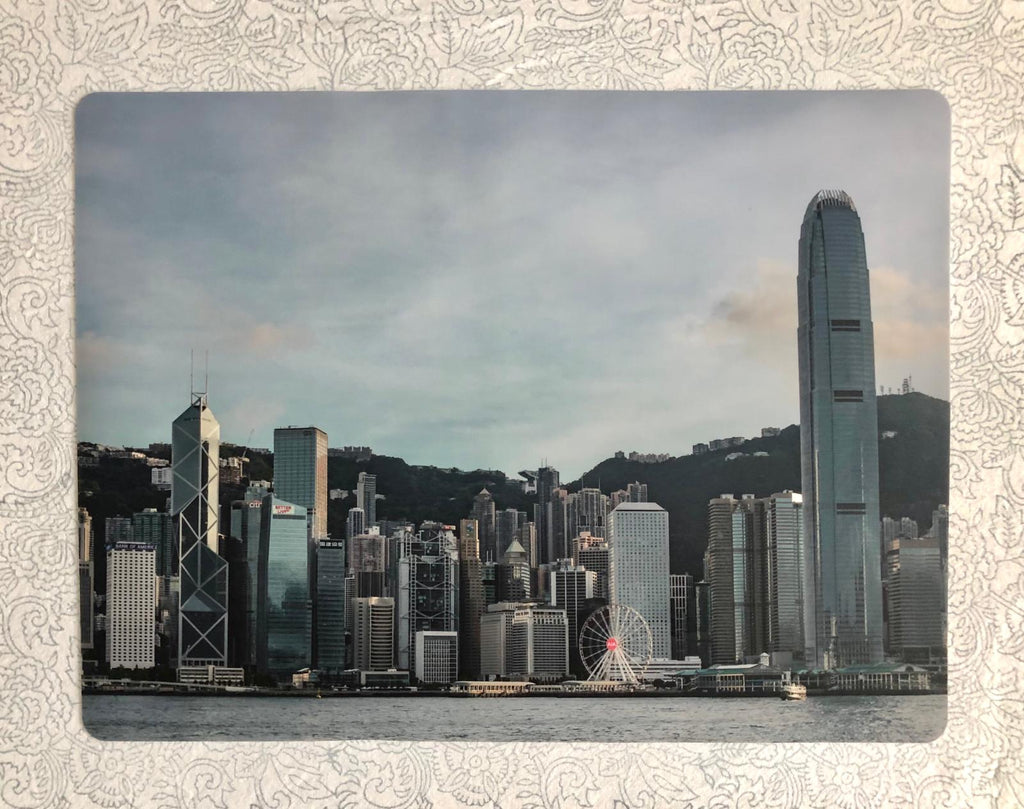 Hong Kong Skyline Silicon Placemat